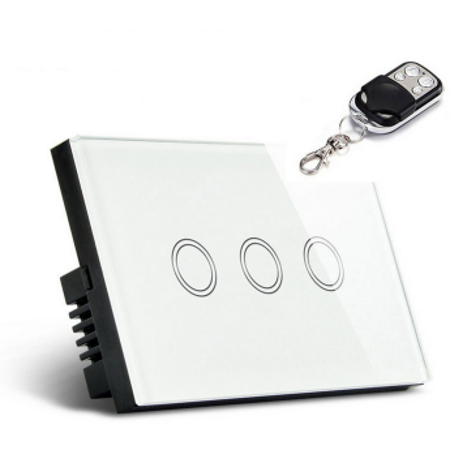 1 Way 1/2/3 Gang Gang Crystal Glass Smart Touch Switch Panel Control Home ()