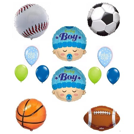 Its a Boy Biy Shower Sports Theme Balloon Decoration Kit - Summer Baby Shower Themes