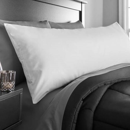"""Mainstays Microfiber 20"""" x 52"""" White Body Pillow Cover, 1 Each"""
