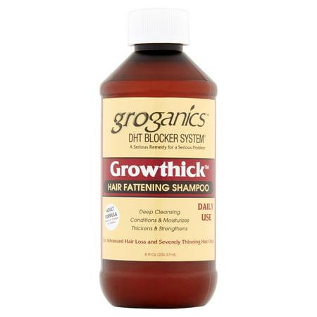 Groganics™ DHT Blocker System® Growthick™ Hair Fattening Shampoo 8 fl. oz.