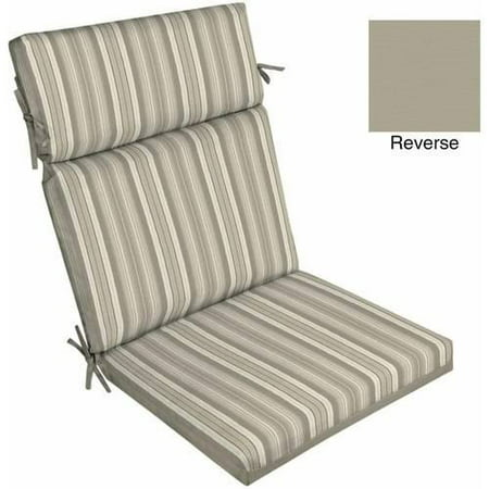 Better Homes And Gardens Outdoor Patio Dining Chair Cushion Grey Stripe