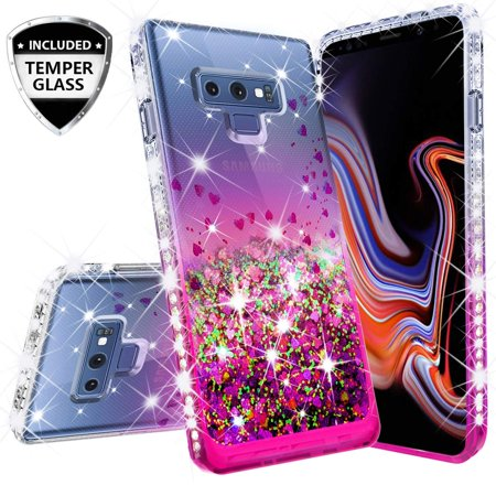 Compatible for LG Stylo 4 Case, LG Q Stylus Case, with [Temper Glass Screen Protector] SOGA Diamond Liquid Quicksand Cover Cute Girl Women Phone Case LG Q710 - Clear/Pink - Cave Women