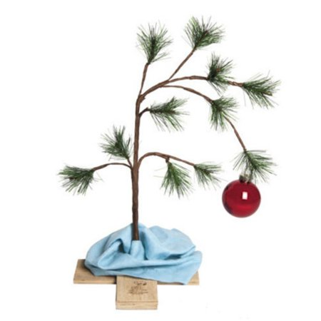 Product Works 2 ft. Original Charlie Brown Unlit Christmas Tree - Adult Christmas Tree