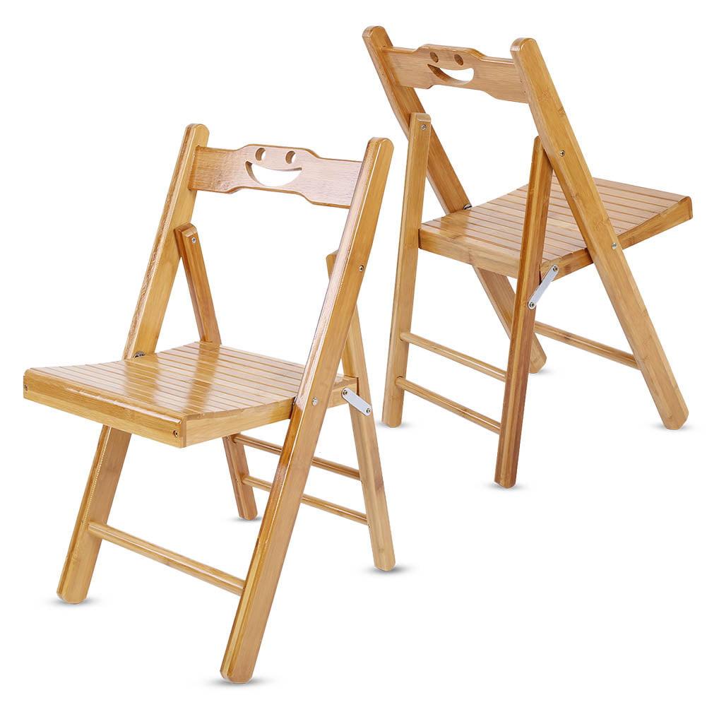 Children Bamboo Wooden Folding Chair Foldable Garden