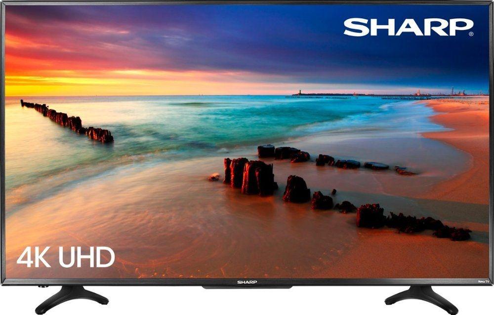 Sharp 50 inch LED 2160p Smart 4K Ultra HD TV Roku TV LC-50LBU591U by Sharp