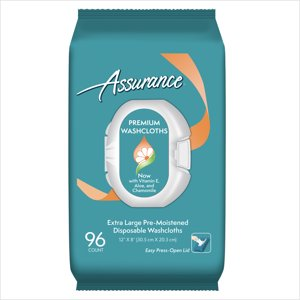 Assurance Premium Extra-Large Disposable Washcloths, 96 Ct