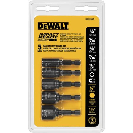 Dewalt DW2235IR 5 Pc Impact Ready Magnet Nut Driver