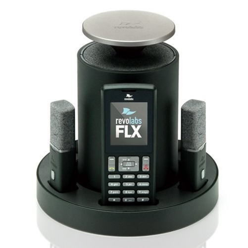 Revolabs FLX 2 VoIP SIP System w/ Two Omnidirectional Tabletop Microphones