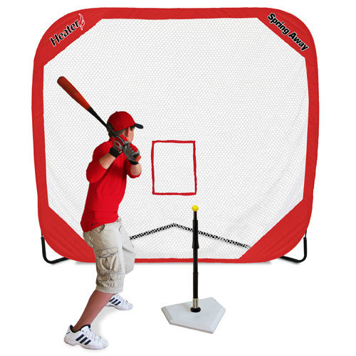 Heater Sports Flop Top Batting Travel Tee & Spring Away Pro Net
