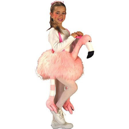 Ride a Flamingo Girls Costume - Costume Flamingo