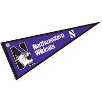 "Northwestern Wildcats 12"" X 30"" Felt College Pennant"