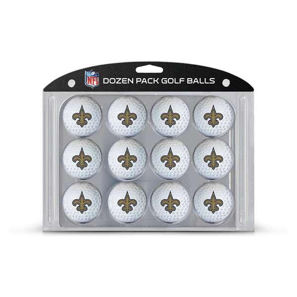 New Orleans Saints  Golf Balls, 12 Pack