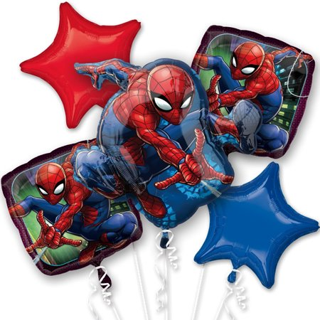 Spiderman Webbed Wonder Foil Balloon Bouquet - Spider Man Decorations
