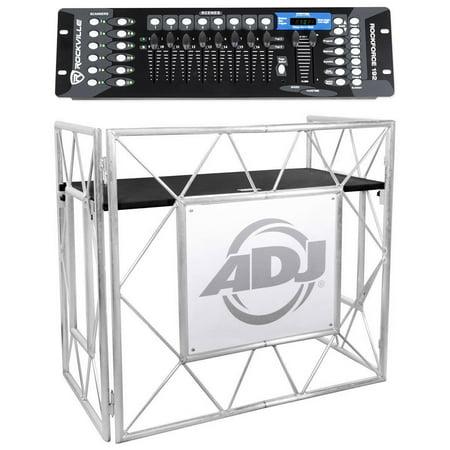 American DJ Pro Event Table II Foldable DJ Booth Truss Facade + DMX (Best Entry Level Dj Controller)