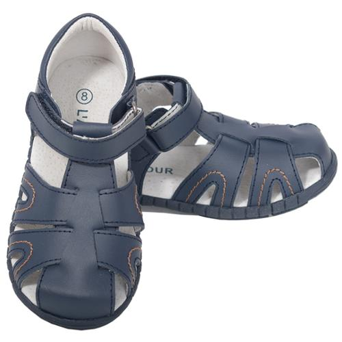 L'Amour Navy Toddler Boys 9 Closed Heel Fisherman Spring Summer Sandals
