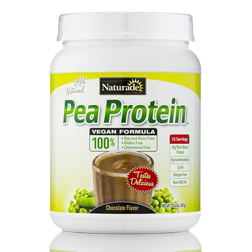 Naturade Vegan Pea Protein, Chocolate, 20g Protein, 1.3 Lb