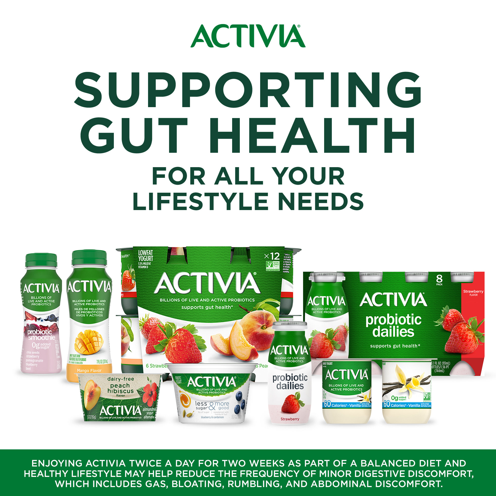 Activia Probiotic Peach & Black Cherry Variety Pack Yogurt, 4 Oz ...