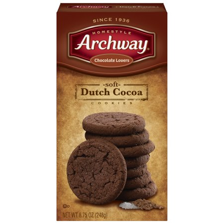 (2 Pack) Archway Soft Dutch Cocoa Chocolate Lovers Cookies, 8.75 (Chocolate Covered Cookie Dough)