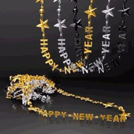 Happy New Year Bead Necklaces (New Year Beads)