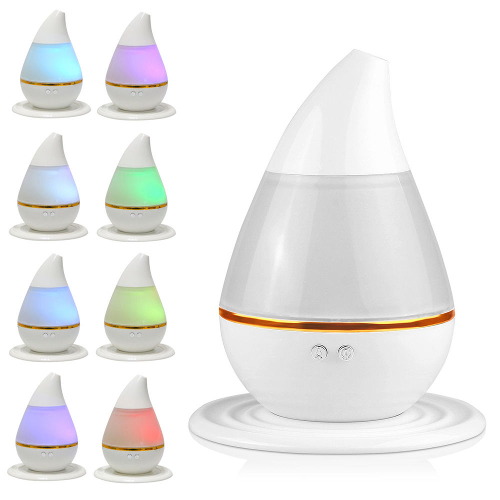 Zimtown 7 Color LED Ultrasonic Aroma Humidifier Small Air Aromatherapy Essential Oil Diffuser