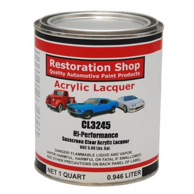 - Restoration Shop 1 Quart CL3245 Hi-Performance Acrylic Lacquer Clear Coat