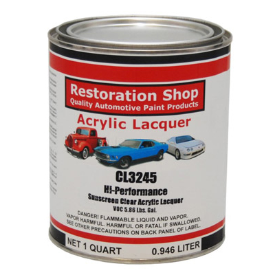 Restoration Shop 1 Quart CL3245 Hi-Performance Acrylic Lacquer Clear Coat