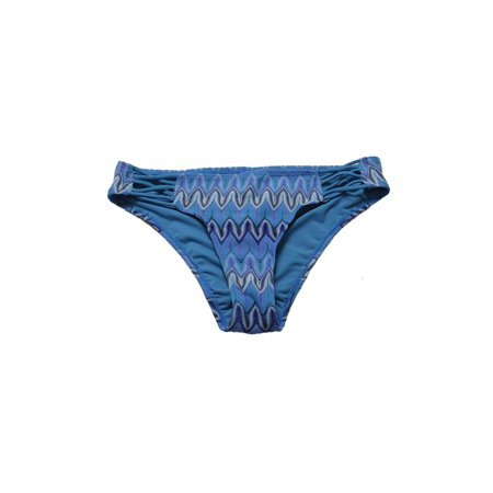 Hula Honey Parisian Blue Festival Dream Chevron Crochet Bikini Bottom S (Crochet Bikini Bottoms)