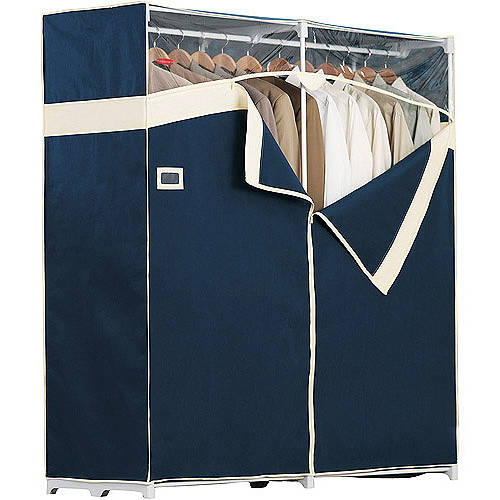 Rubbermaid Portable Garment Closet, 60 In. - Navy