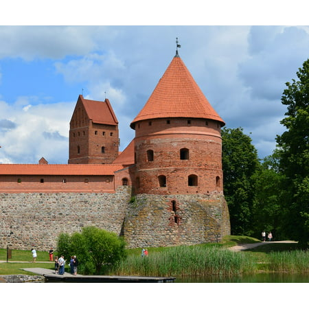 Canvas Print Historical Castle Trakai Medieval Lithuania Tower Stretched Canvas 10 x 14 - Medieval Castle Decorations