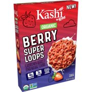 Kashi by Kids Super Loops, Breakfast Cereal, Berry, 9.5 Oz