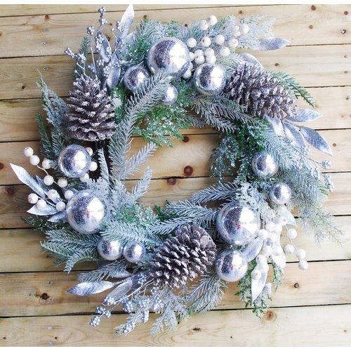 The Holiday Aisle Christmas 24'' Cedar Ornament Wreath