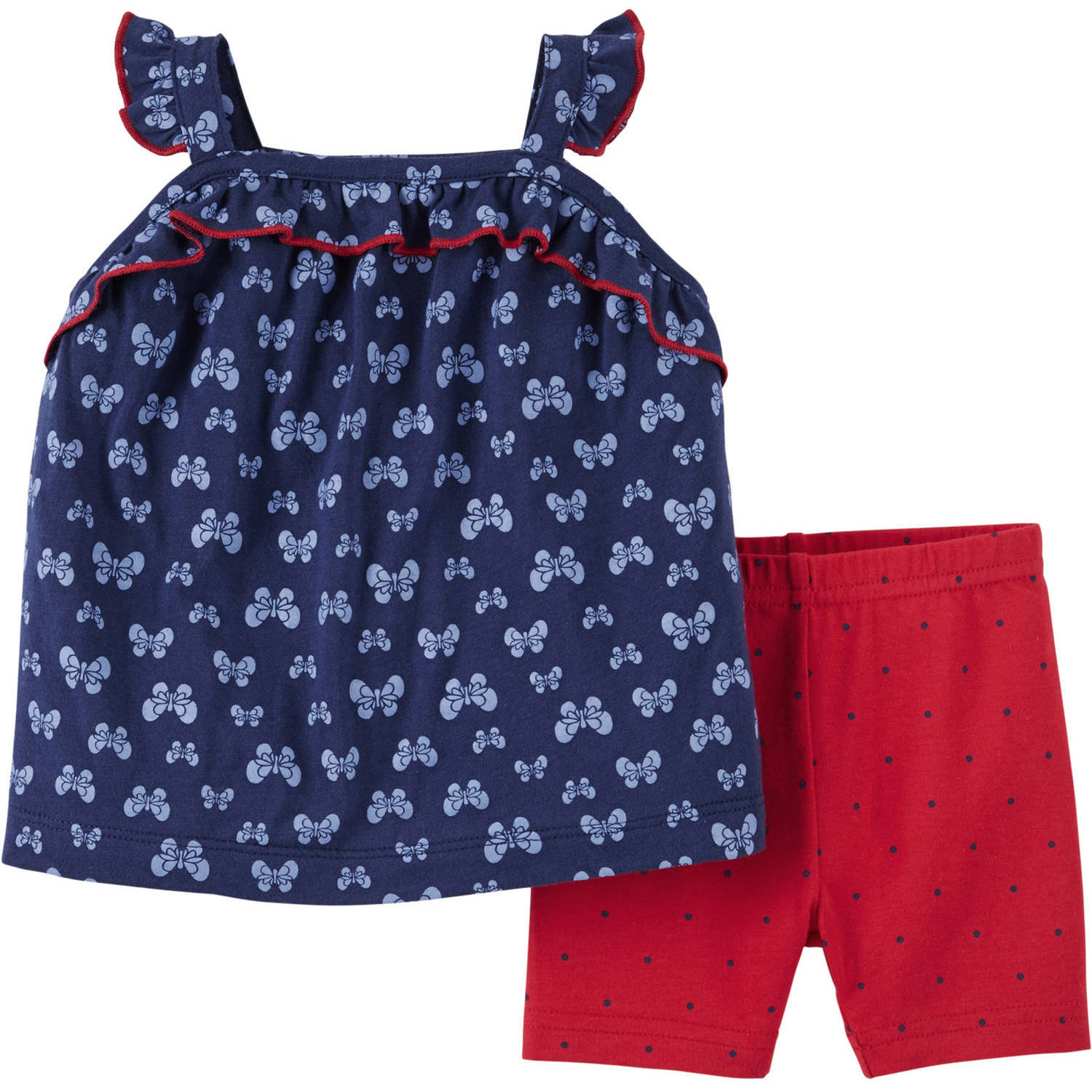 Child of Mine by Carter's Newborn Baby Girl Sleeveless Top and Capri Outfit Set, 2 Pieces