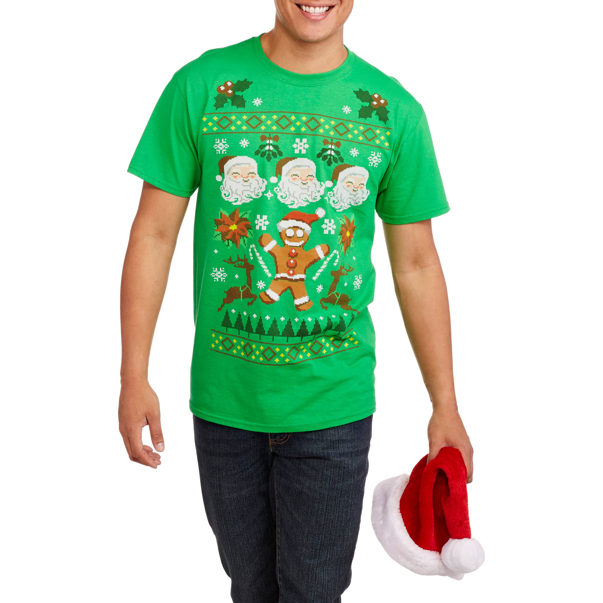 Christmas Men's Ugly Sweater Deluxe Graphic Tee