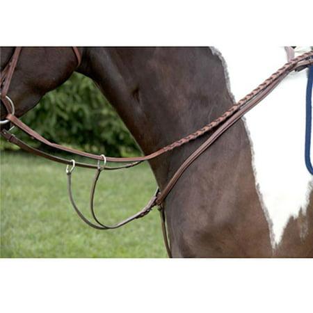 Exselle AEBPR183OSB Plain Rsd Breastplate W-Run Martin Attach for Large Horse, (Exselle Plain)