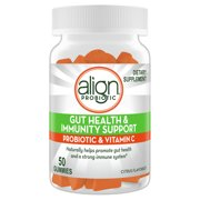 Align Probiotic Gut Health and Immunity Gummies, Citrus Flavor, 50 ct