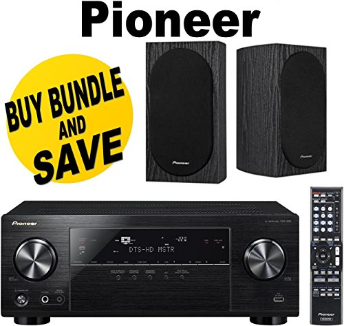 Pioneer VSX-830-K 5.2-Channel AV Receiver with Built-In Bluetooth and Wi-Fi (Black) + Pioneer SP-BS22-LR Andrew Jones