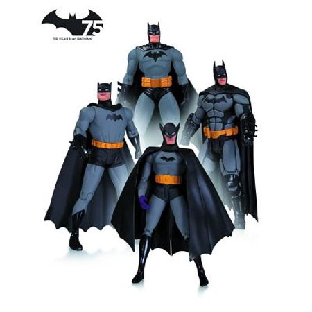 DC Comics Batman 75th Anniversary Action Figure, 4-Pack, Set (Dc Collectibles Batman 75th Anniversary Action Figure)