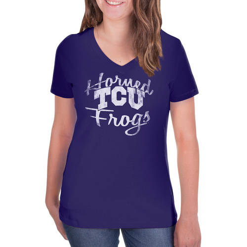 NCAA TCU Horned Frogs Women's V-Neck Tunic Cotton Tee Shirt