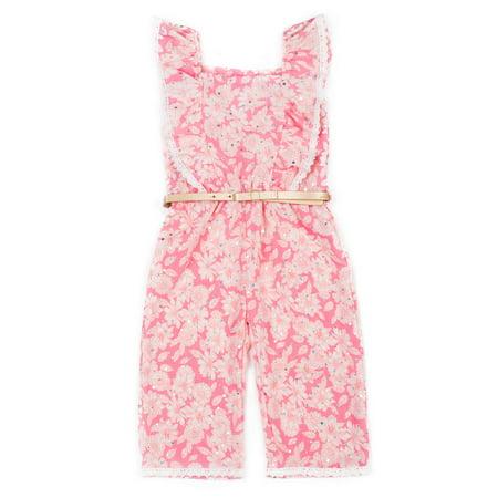 Printed Ruffle Jumpsuit (Baby Girls & Toddler Girls)](Toddler Jumpsuit)