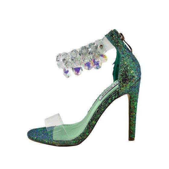 2eb4793f43c Cape Robbin Suzzy 54 Womens Clear Toe Gem Embellished Heel