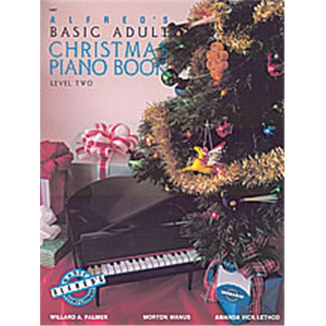 Alfred 00-2467 Basic Adult Piano Course- Christmas Piano Book 2 - Music Book