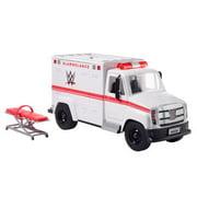 WWE Wrekkin' Slambulance Vehicle with Rolling Wheels & 8+ Wrekkin' Parts