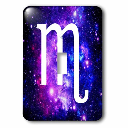 3Drose Scorpio Star Sign On Purple Space Background   Zodiac Horoscope Symbol  Double Toggle Switch