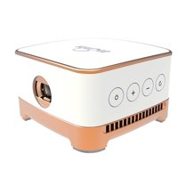 Portable Mini Video Projector, Home Theater Projector Support 2.4G & 5G WiFi, Bluetooth 4.1, Android 7.1 Wireless WiFi Mini Smart Projector for Home Cinema Theater