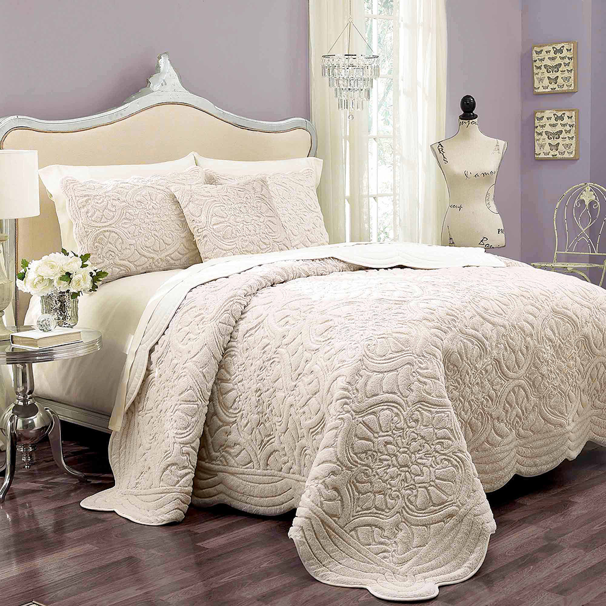 Vue Signature Plush Decor Charlotte Faux Fur Coverlet Collection by Overstock