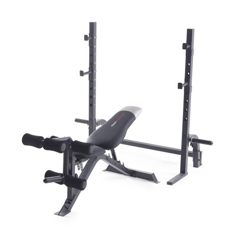 Weider Pro 395 Multi-Purpose Olympic Bench with Exercise (Fitness Gear 2017 Pro Olympic Weight Bench)