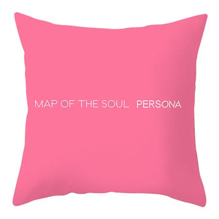 Fancyleo 1 PCS  BTS  Pink Double-sided Pillowcase | Kpop Bangtan Boys Love Yourself Pillowcases Cushion Cover with Double Sided Various Patterns | Best Gift for The