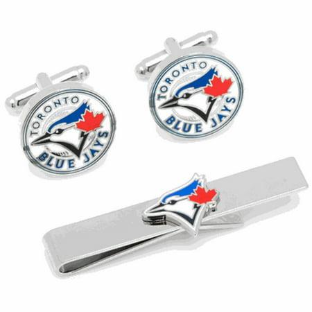 Toronto Blue Jays Cufflinks and Tie Bar Gift Set by