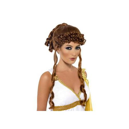 Womens Helen Of Troy Greek Mythology Wig Costume Accessory - Greek Costume For Girl