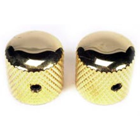 Guitar Amp Knobs (Peavey Two High Quality Metal Dome Guitar Knobs Gold With Knurled Grip 73200 New )
